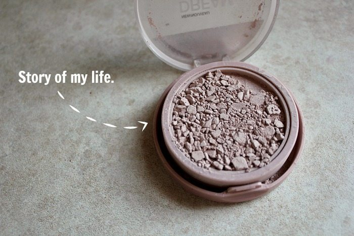 GAME CHANGER!! How to fix your broken makeup when you drop it on the floor and it crumbles into a million pieces!