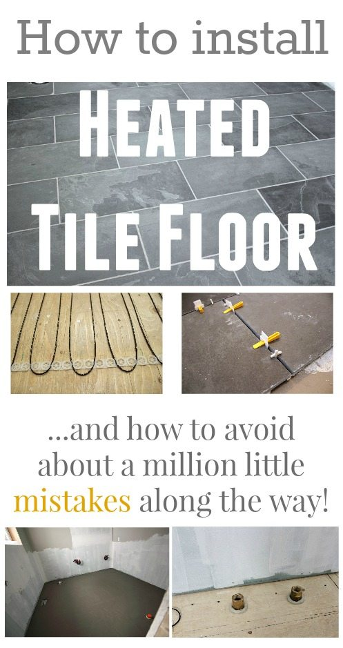 How To Install Heated Tile Floors In Your Home Learn Avoid All The