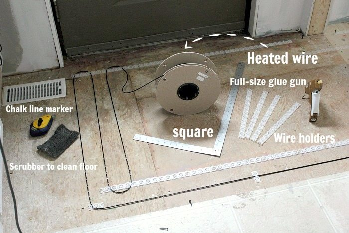 How To Install A Heated Tile Floor And Also Not