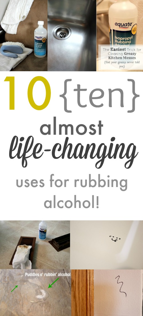Who knew there were so many ways to use rubbing alcohol? Everyone should pick up a cheap little bottle of this stuff if they don't already have it in the house!