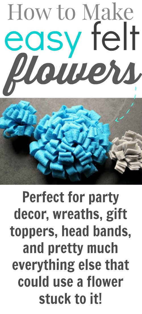 These beautiful felt flowers are a great craft for kids and the they look wonderful around the house. Try this craft and brighten up your home this year.