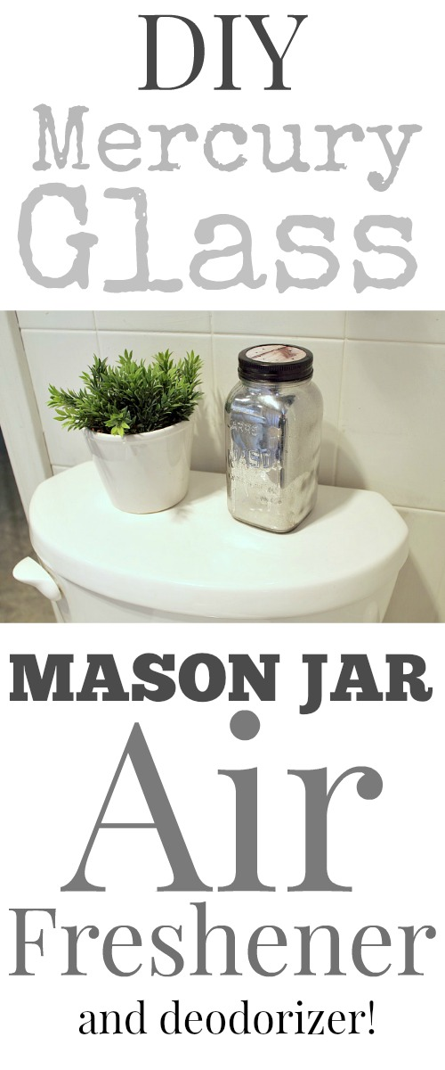 If you love mason jar crafts as much as I do you will love this DIY mercury glass mason jar air freshener.  It's so much fun to make, looks great and it's a very effective air freshener too!