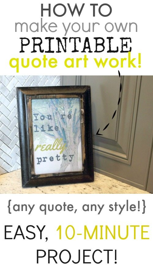 How to make your own printable quote art work the creek for Build your own mobile home online