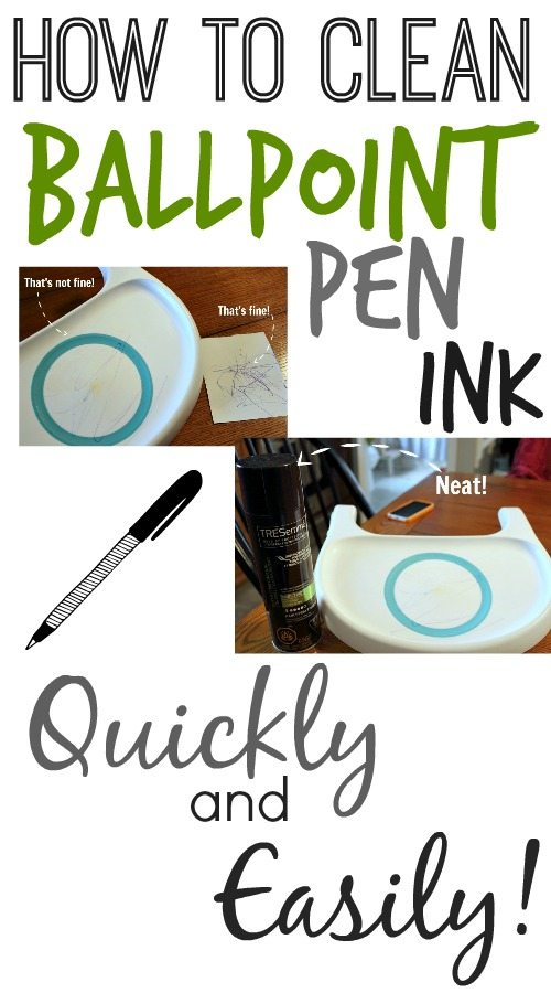 The clever way to melt away ballpoint pen ink with an everyday household item! Really neat!