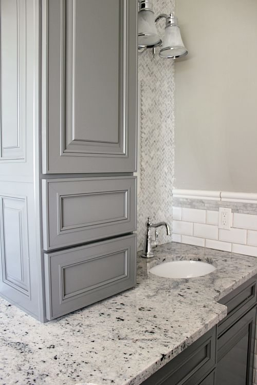 An interview with me all about the new bathroom and my for Bathroom cabinets kraftmaid