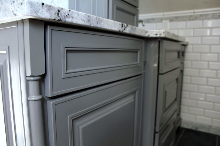 An interview with me all about the new bathroom and my Kraftmaid bathroom cabinets
