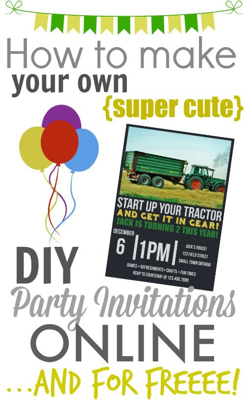 make your own diy printable party invitations! - the creek line house, Party invitations