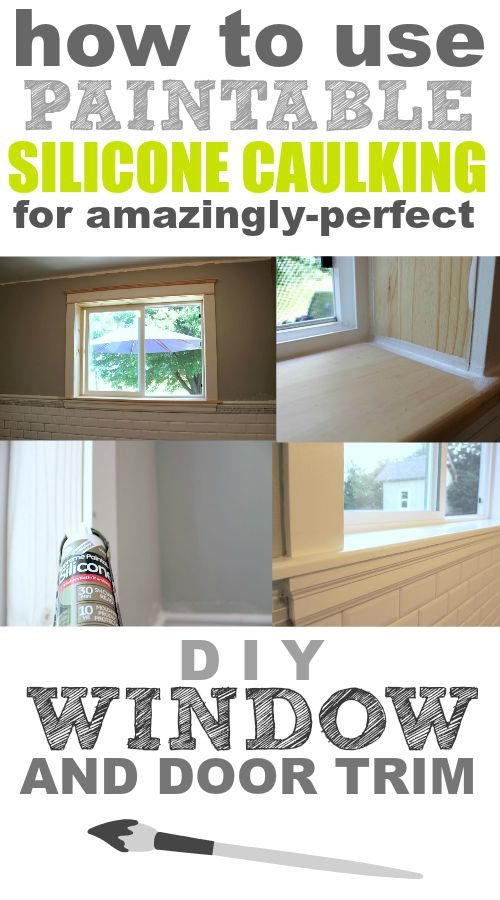 How to use paintable caulking for amazingly perfect window - Silicone caulk for exterior windows ...