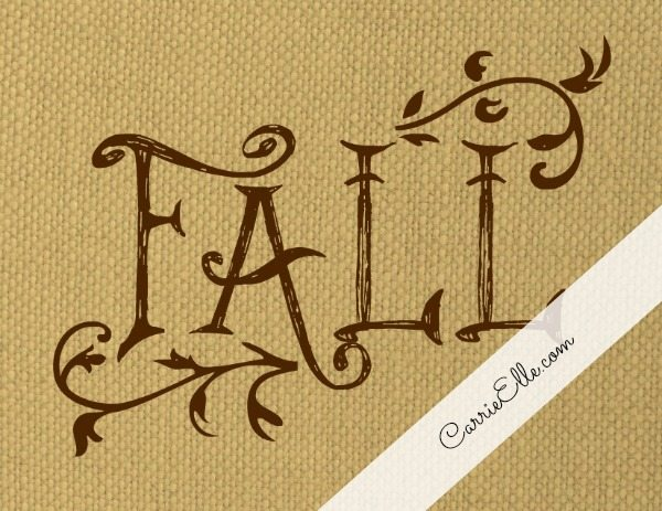 Free fall art to bring your home into autumn-mode! Just print them out and hang them up!