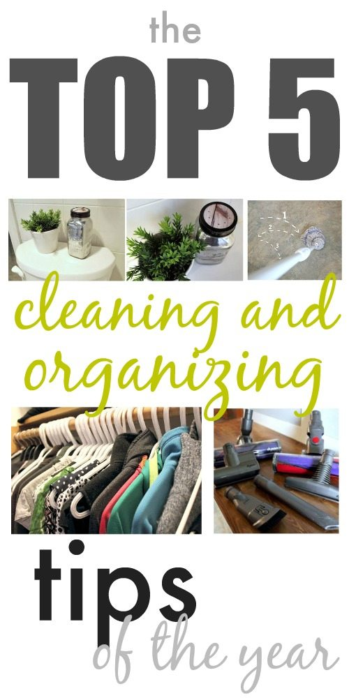 The top 5 cleaning and organizing tips of the year! Great article for getting motivated to get your house in shape!