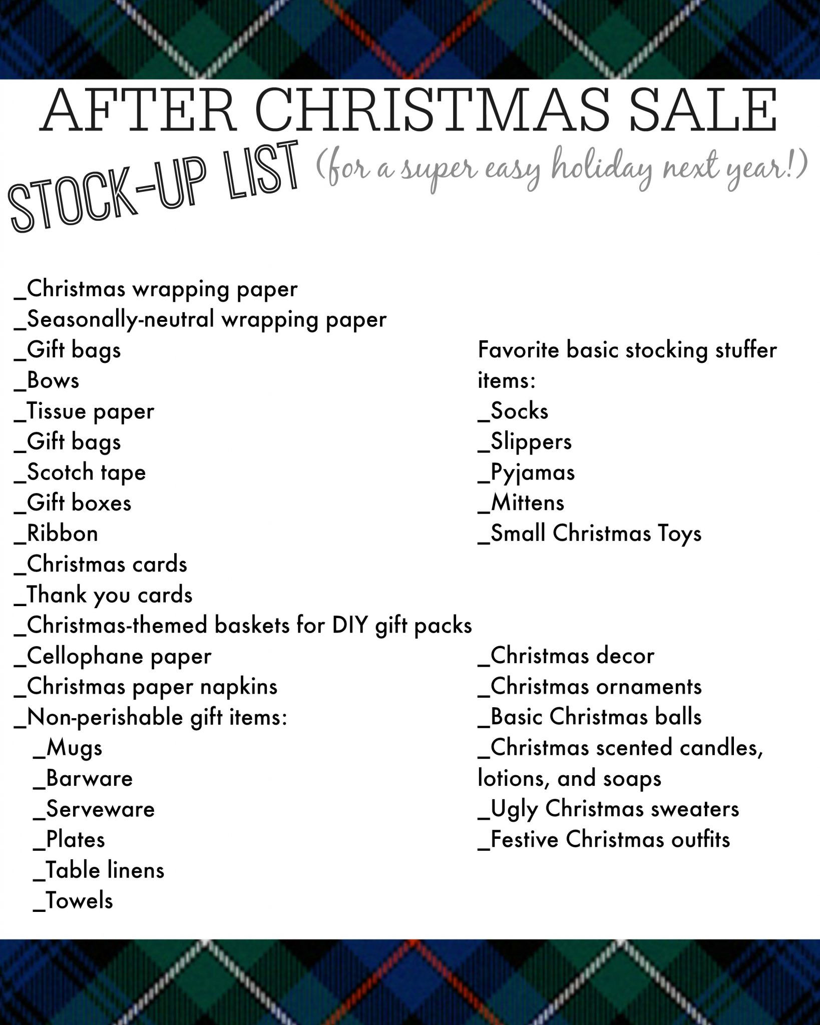 What to stock up on in the after Christmas sales for a much easier ...