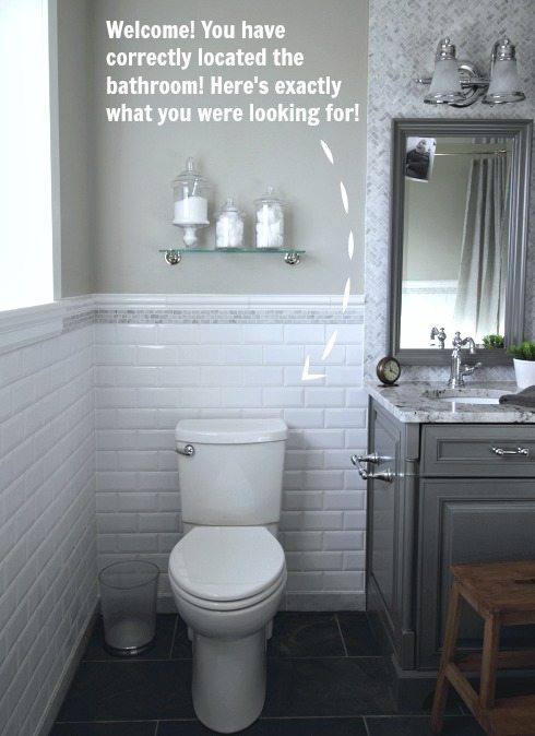 Grey and white before traditional bathroom: before and after!