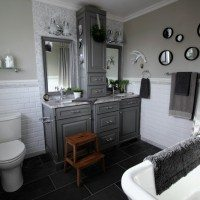Before and After: Grey and White Traditional Bathroom Makeover