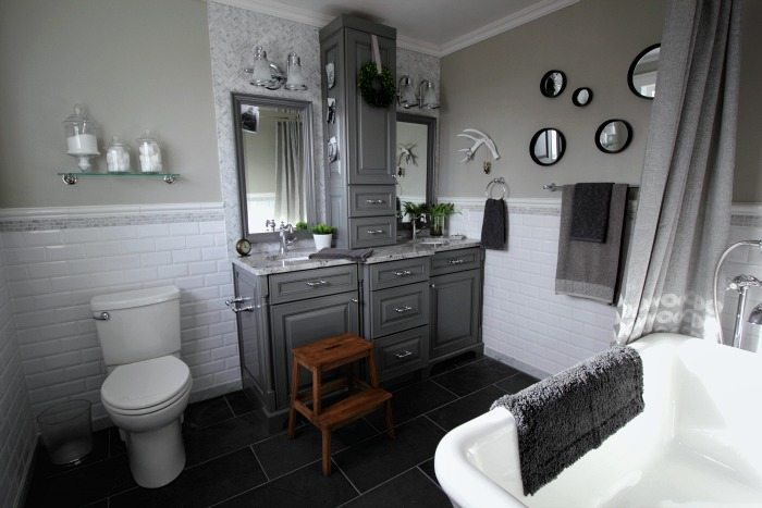 Before And After Grey And White Traditional Bathroom Makeover The - I need to redo my bathroom