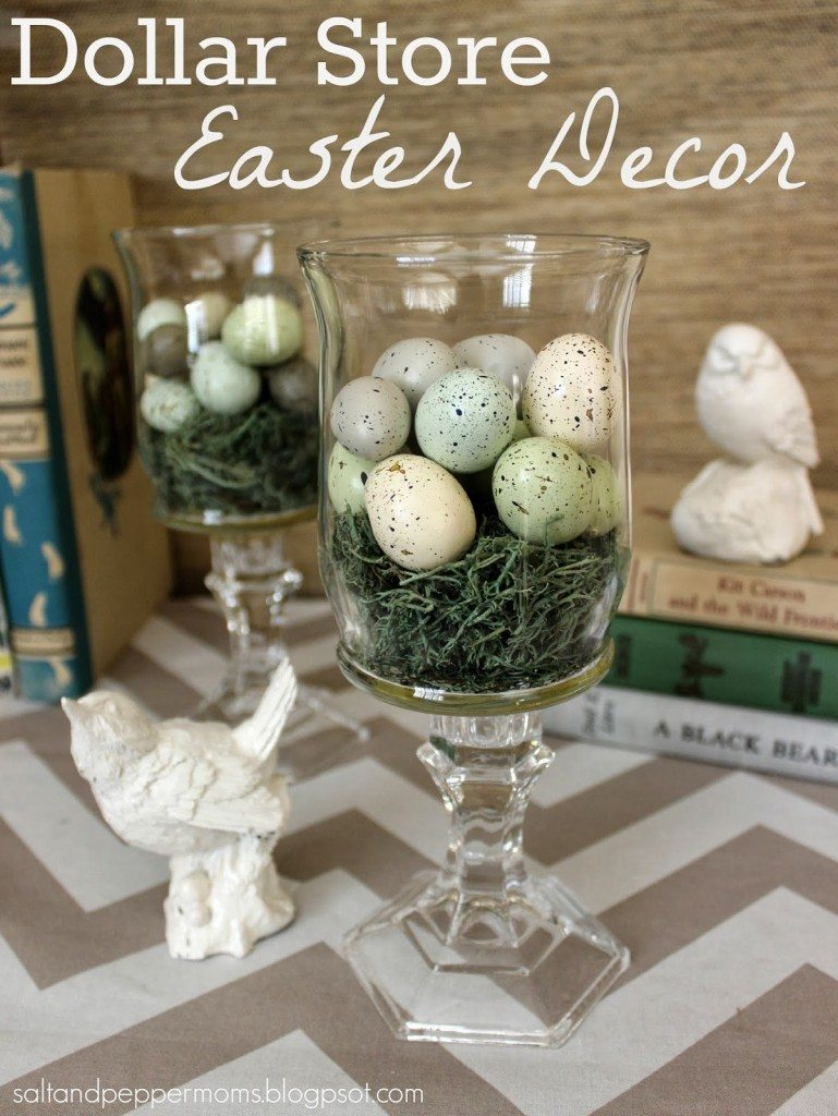Dollar Store Easter Decor - Dollar Store Easter Decor from Salt & Pepper Moms
