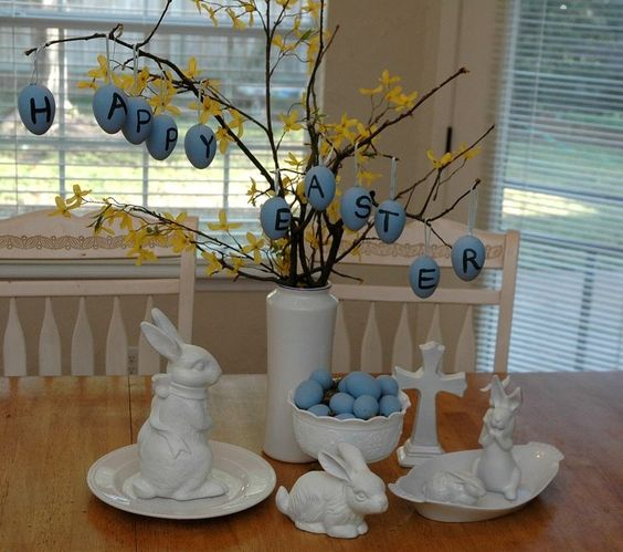 Dollar Store Easter Decor - Dollar Store Easter Display from Bubba Chic