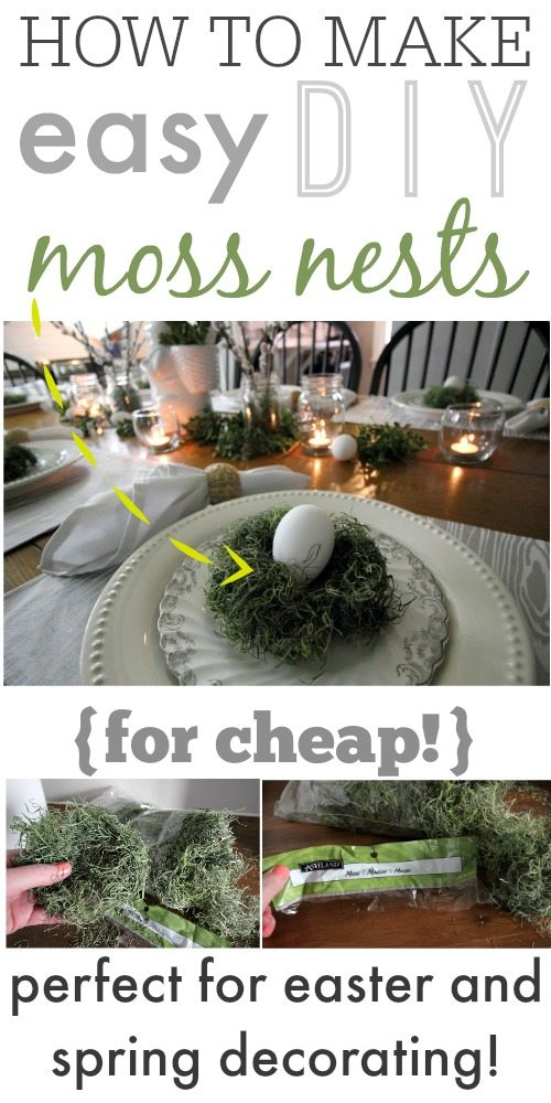 So cute! These nests are so easy and inexpensive to make and really add something special to Easter and spring decor!