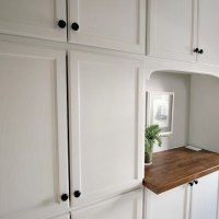 Our new wall of built-in cabinetry: A semi-life-altering storage solution!