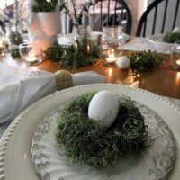 Easy, super cheap, DIY moss nests for Easter!