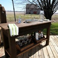 Outdoor Living DIY: Rustic Barn Wood Beverage Center!