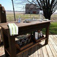 Outdoor Living DIY: Rustic Barn Wood Beverage Center!