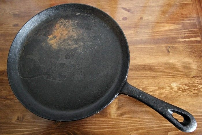 How to Clean a Cast Iron Pan - Before
