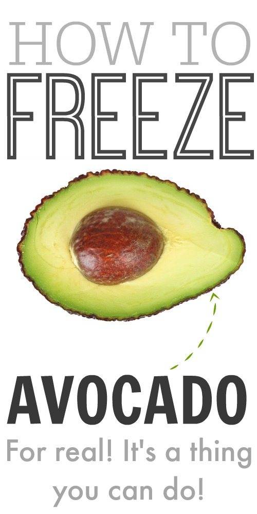 Did you know that you can freeze avocado?!! This changes everything!!