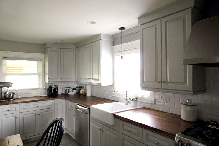 Updating our kitchen cabinets with new mouldings! | The Creek Line House
