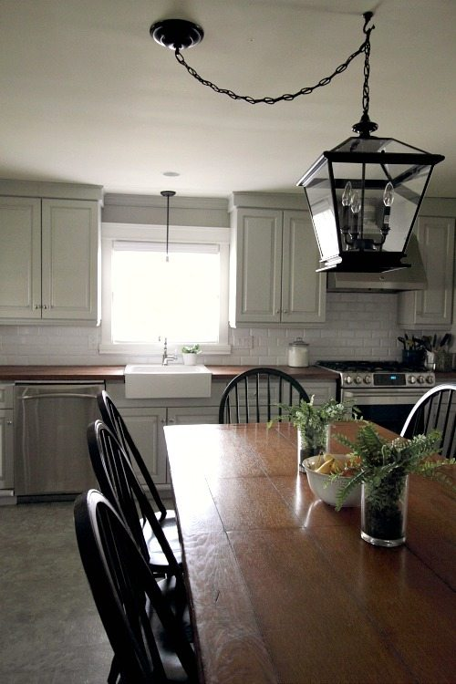 It's easy to update the look of your old kitchen cabinets with some simple mouldings and a few basic tools!
