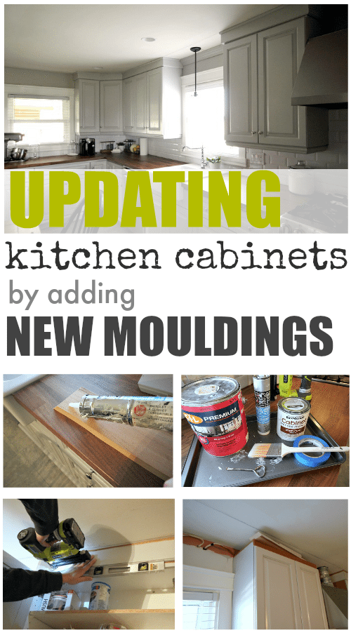 Attractive Itu0027s Easy To Update The Look Of Your Old Kitchen Cabinets With Some Simple  Mouldings And