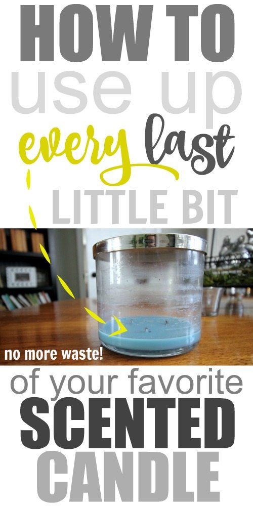No more waste! How to use up every last bit of your favorite scented candle if there's still some wax left at the bottom after it's burnt out!
