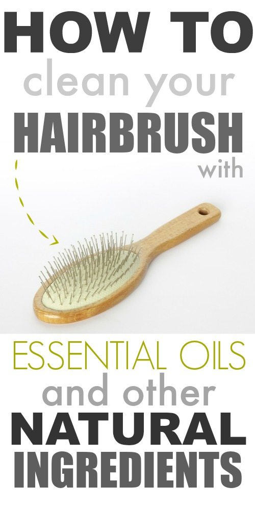 What good is washing your hair if your hairbrush isn't clean? Here's an easy way to get your hairbrush squeaky clean using essential oils and other basic, natural stuff that you already have around the house.