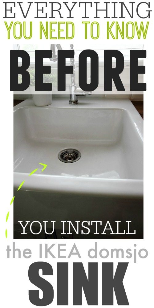 Everything You Need To Know Before You Install The Ikea Domsjo Sink So Many Helpful
