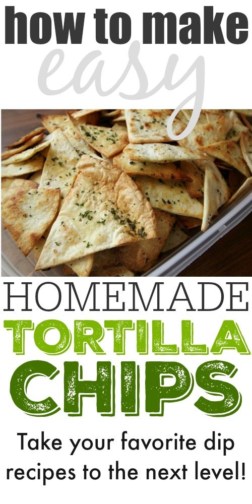 These delicious homemade tortilla chips are so incredibly quick and easy to make.  Perfect for guests when hosting and easy to bring along to a potluck; you'll want to keep this recipe handy for all your get-togethers.
