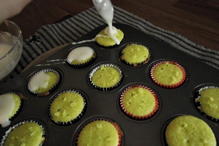 Sugared lime mini cupcakes! The perfect little treat for a summertime BBQ or potluck!