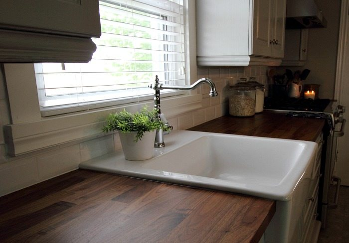 If you're planning to update your kitchen with a new Ikea Domsjo apron front, farmhouse style sink, this is everything you need to know before you buy one and install!