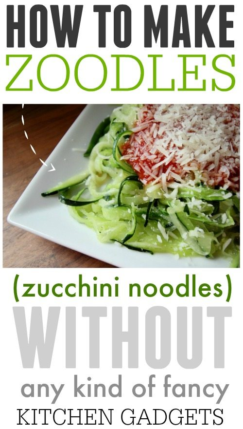 Here's the best way to make amazingly delicious zucchini noodles - a great, healthy alternative to pasta - without fancy, specialized equipment!