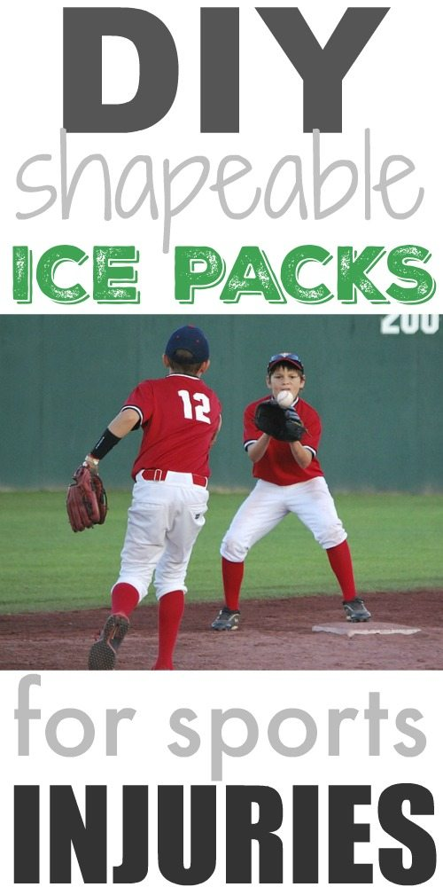 So easy and economical too! How to make your own shapeable ice packs for sports injuries or sore muscles!