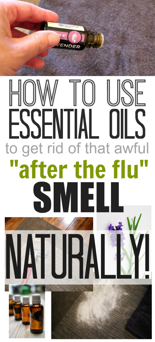 How to make your home smell fresh and clean again after someone in your family is sick by using essential oils and other natural ingredients!