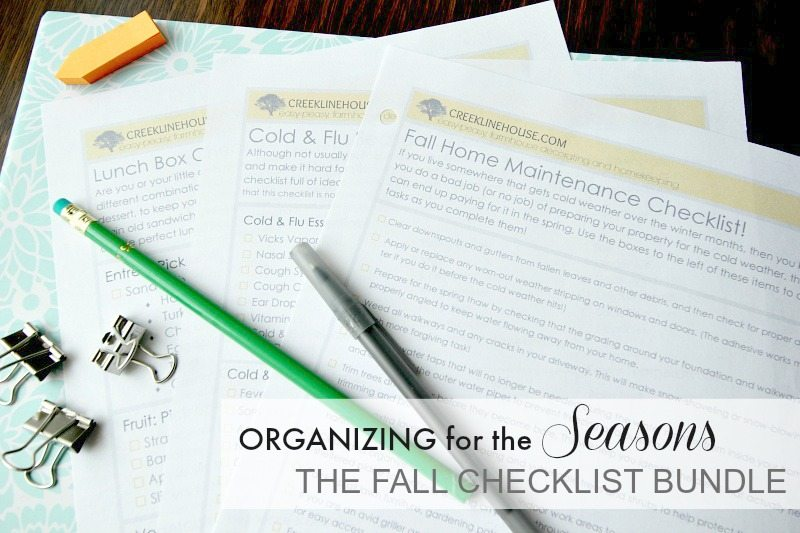 A fall checklist bundle with everything you need to get you ready for your most organized fall season ever!