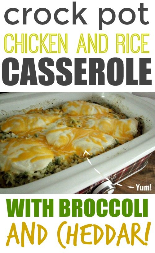 A simple chicken and rice casserole recipe for your crock pot! Easy weeknight crock pot meal!