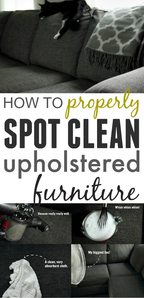 How to successfully clean stains and messes from your couches, chairs, and other upholstered furniture. This technique does a great job every time!