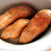 Baked Sweet Potatoes in the Crock Pot