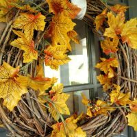 The 45 Second Fall Leaf Wreath