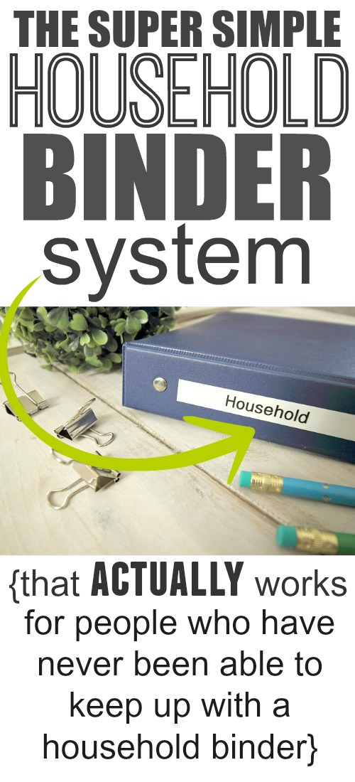 Planning and organization are key to any happy, well-run household.  This simple, easy to implement, great for everyone household planning binder system will have your life organized and on track in no time.