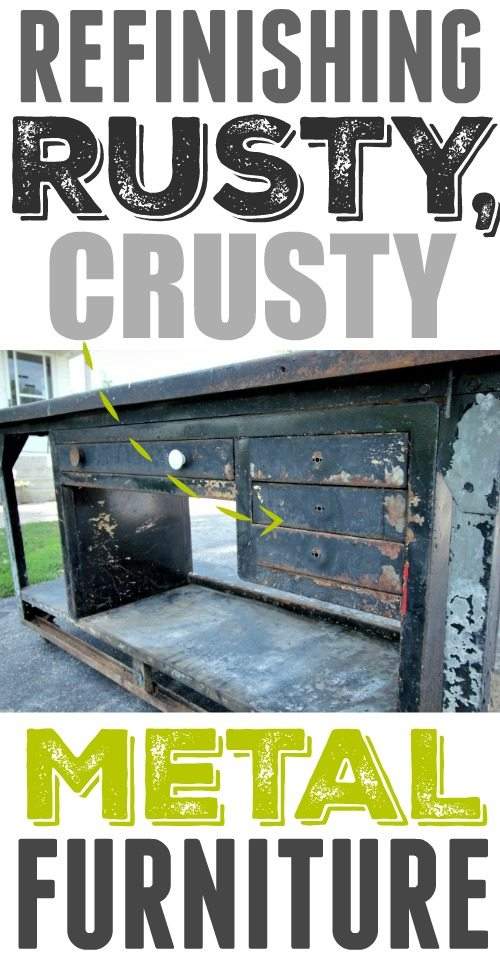 How To Refinish Rusty Crusty Old Metal Furniture The Creek Line House