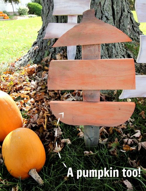 DIY Scrap Wood Ghost and Pumpkin Decorations! So cute and easy for the front yard!