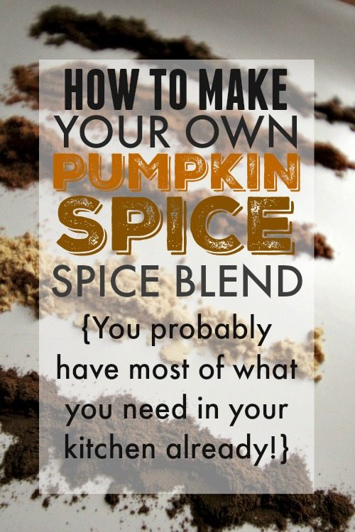 DIY pumpkin spice! Did you know that you can make your own pumpkin spice blend out of things you already have on hand? No need to buy a separate bottle of spices for all your fall favorites!