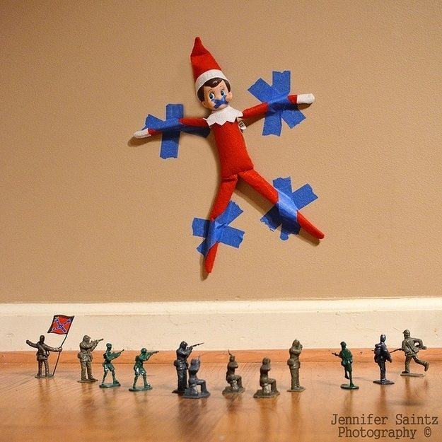 Clever, fun and easy Elf on the Shelf hiding spots for those times when your Elf on the Shelf just can't figure out where to hide!