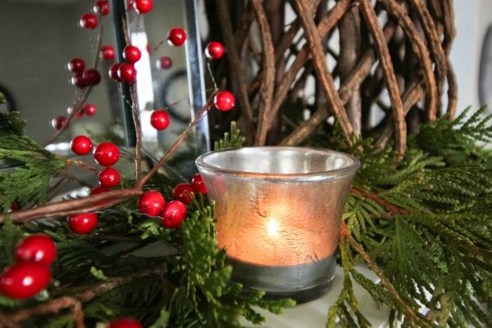 """How to decorate for Christmas when you don't have a mantel in your home! Create a """"fantel""""!"""